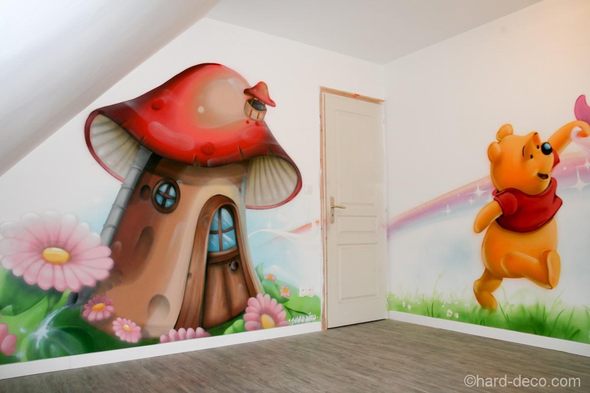 D cor mural de salle de jeux sur le th me de winnie l 39 ourson - Jeux de winnie l ourson gratuit ...