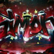 Toile graffiti Simon