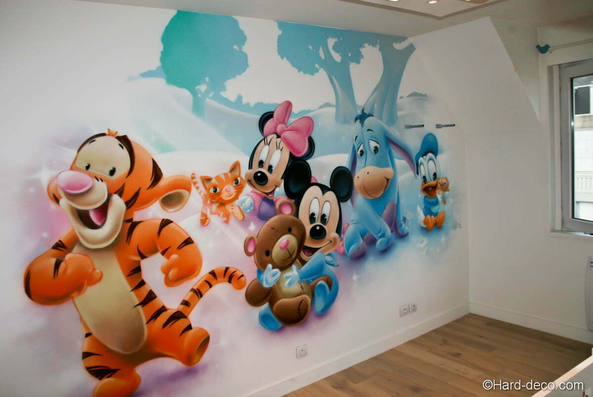 D co chambre bebe walt disney for Decoration murale chambre bebe