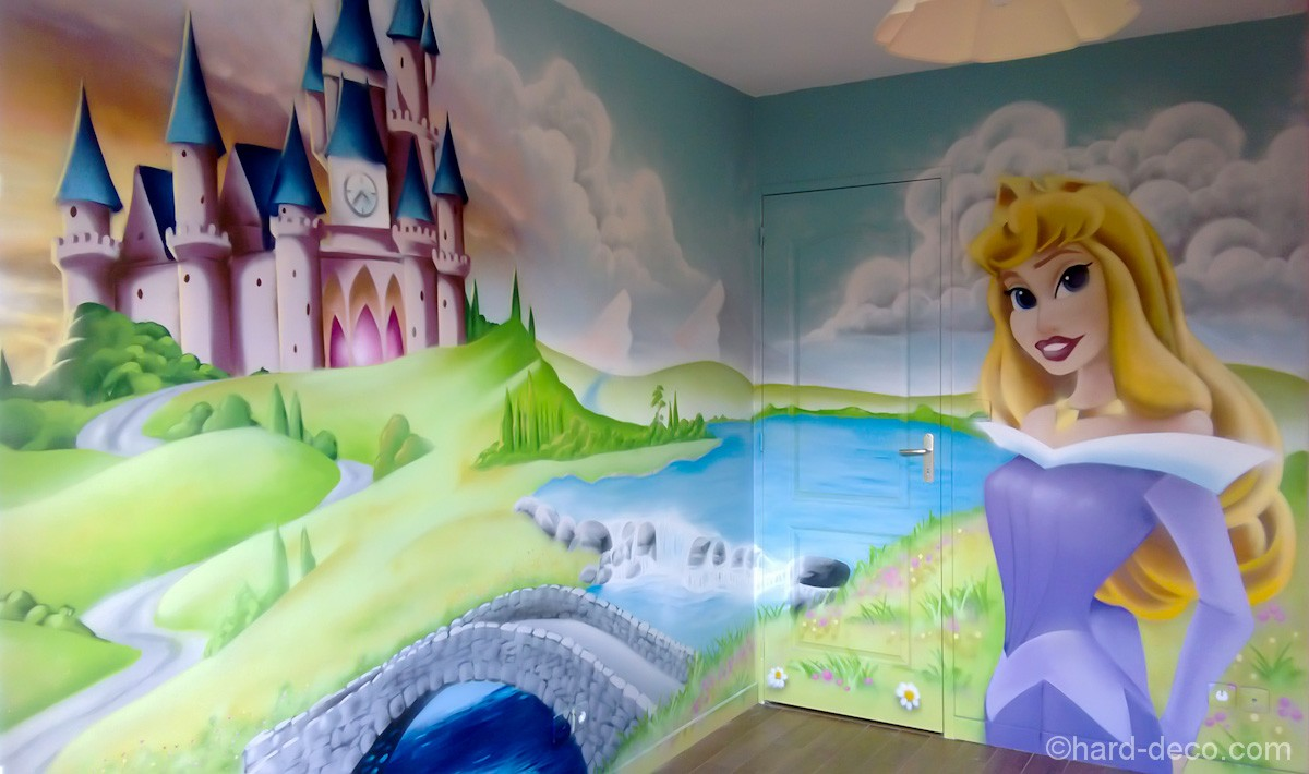 Chambre de b b princesse hard deco for Chambre fille princesse