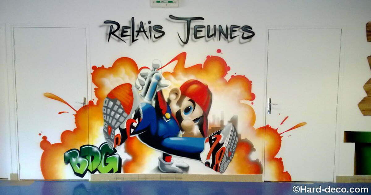 Deco Mario Pour La Salle D Une Mairie Dediee Aux Ados