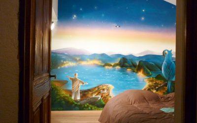 Fresque baie de Rio et Blu