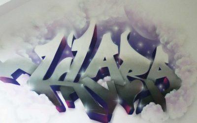 Prénom graffiti moelleux