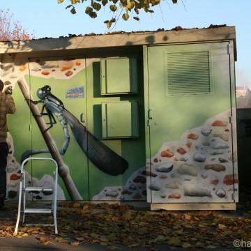 Fresques d cors muraux et graffitis pour ext rieur et jardins for Decors muraux exterieurs