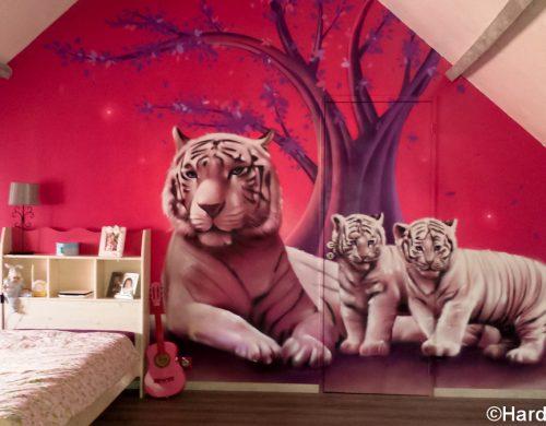 Chambre aux tigres blancs