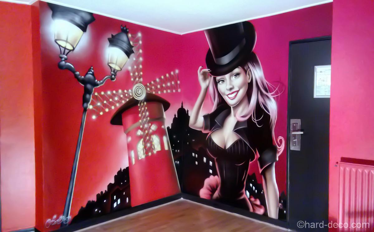 Fresque D U00e9coration Moulin Rouge