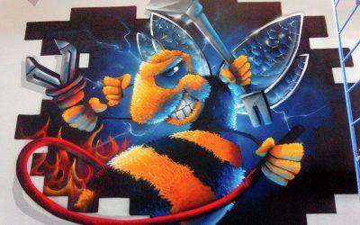 Fresque des pompiers de Lagny