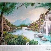 Fresque jungle & cascade