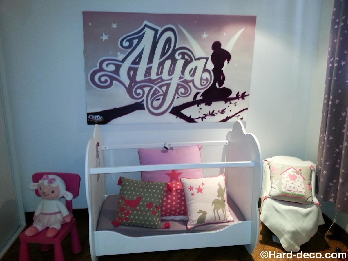 Pr nom sur toile pour une chambre de b b alya et f e for Toile pour chambre bebe