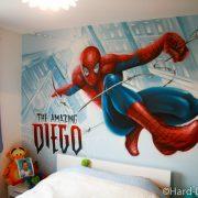 Chambre Spiderman en action