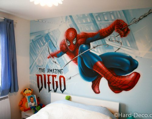 Chambre Spiderman en action