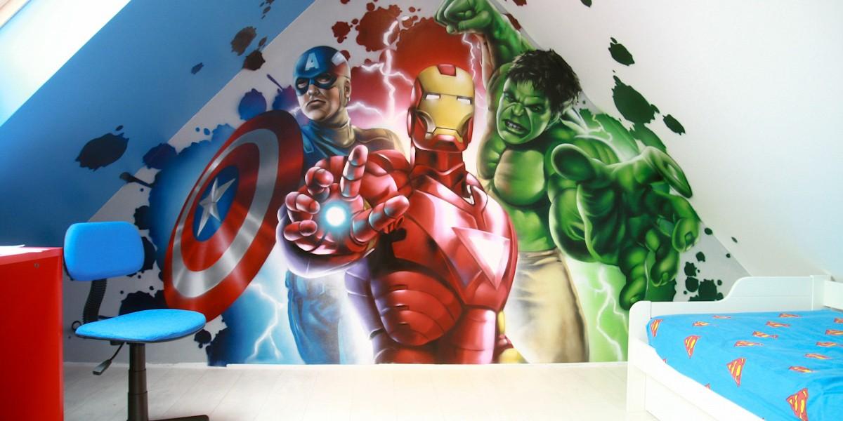 Chambre Héros Marvel