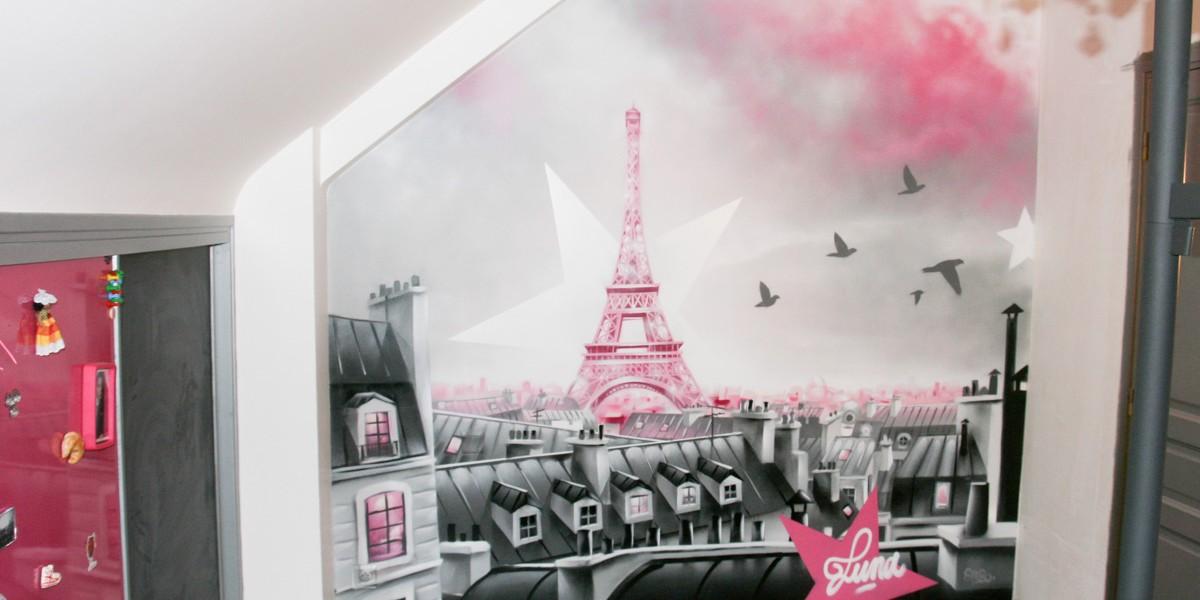 D coration papier peint chambre ado new york 24 le havre - Decoration chambre paris ...