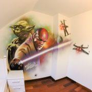 Décor Star Wars Yoda & Windoo