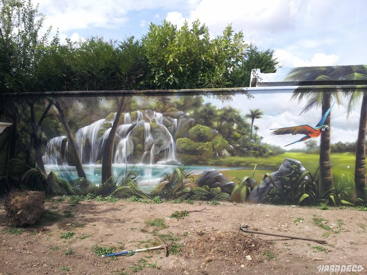 Paysage mur de jardin for Decoration murale jardin