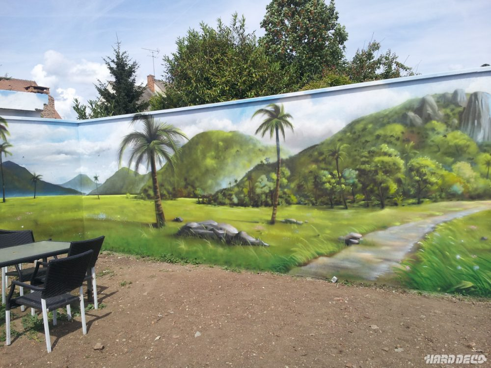 Paysage mur de jardin for Paysage de jardin