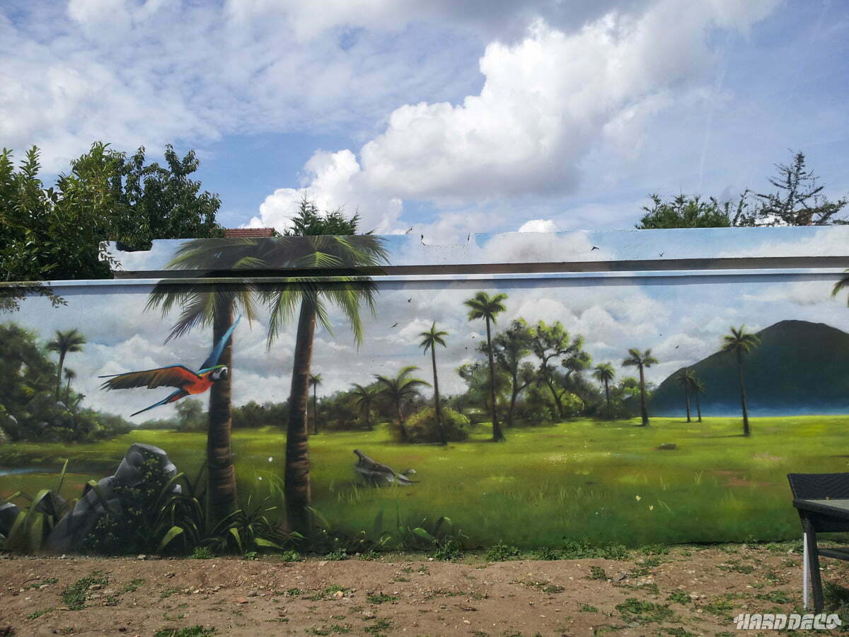 Awesome image trompe oeil jardin ideas amazing house for Paysage peinture