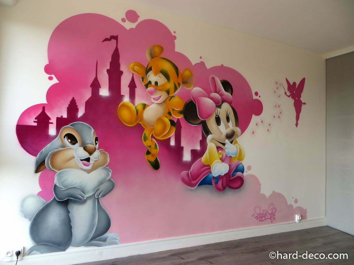 disney d coration graffiti hard deco. Black Bedroom Furniture Sets. Home Design Ideas