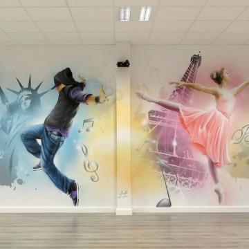 fresques graffiti et d cors new york. Black Bedroom Furniture Sets. Home Design Ideas
