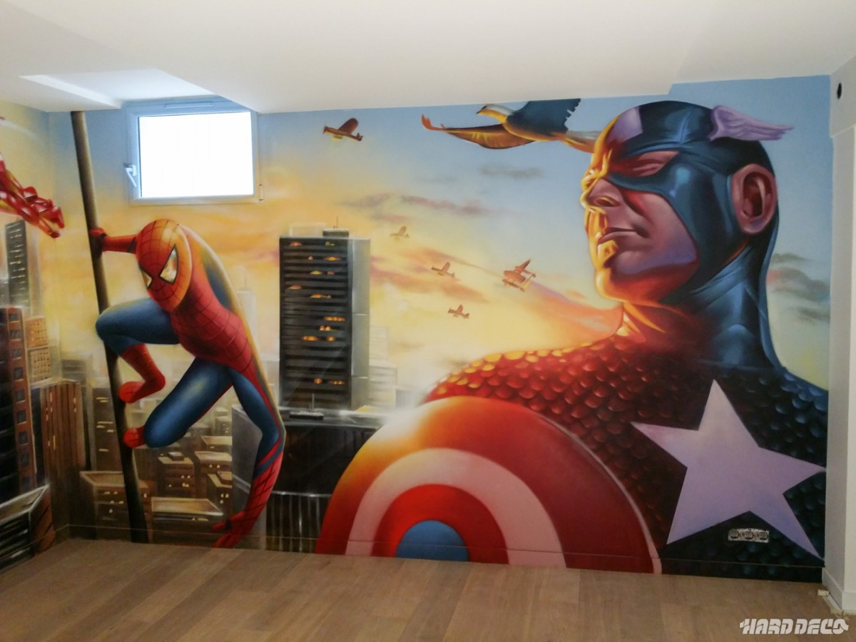 marvel avengers hard deco. Black Bedroom Furniture Sets. Home Design Ideas