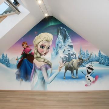 fresques d cors muraux et graffitis pour chambre de filles hard deco. Black Bedroom Furniture Sets. Home Design Ideas