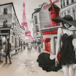 Toile Paris Le Macaron