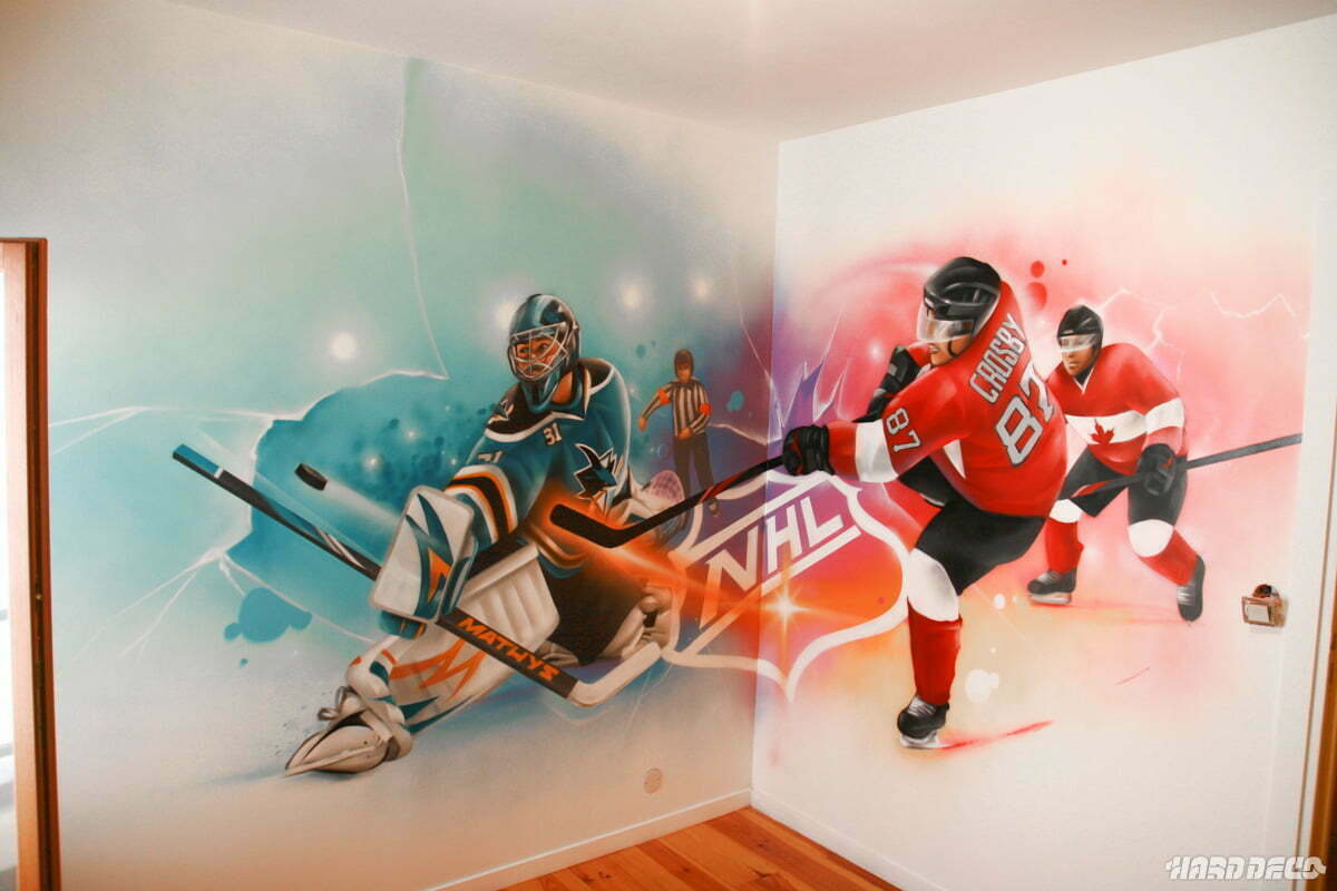 decoration chambre hockey sur glace