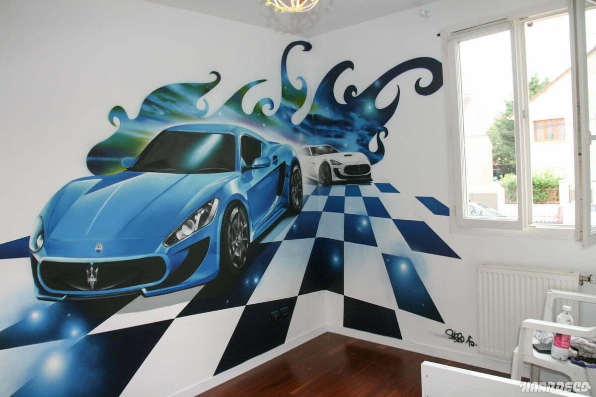 Fresque maserati granturismo chambre d 39 enfant for Sport de chambre definition