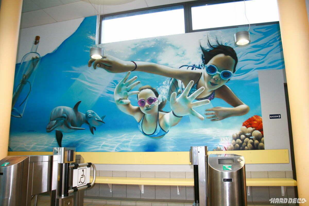 Fresque pour la piscine de morsang sur orge - Piscine de morsang sur orge ...