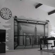 New York : Salon avec vue…