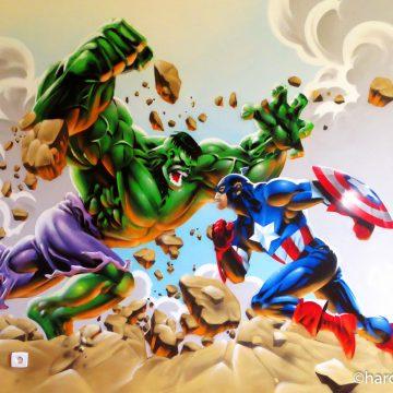 Captain America et Hulk