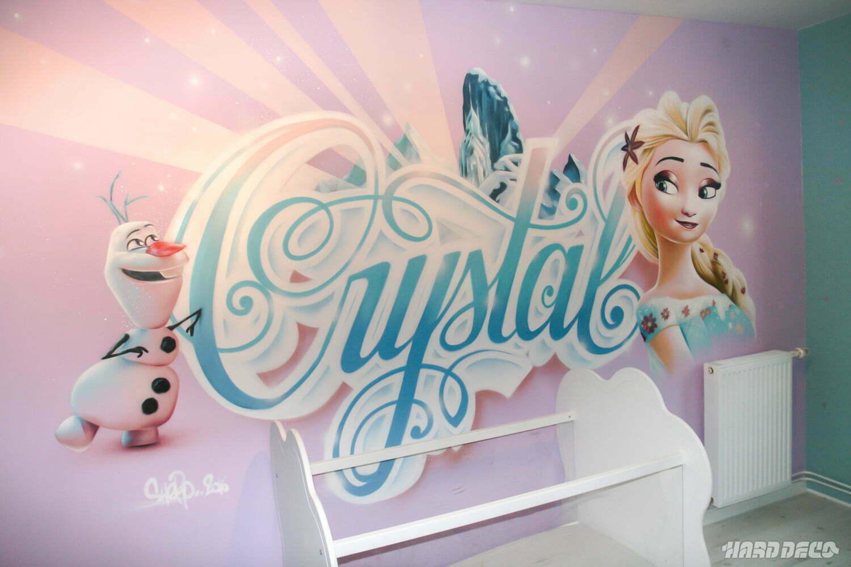 crystal et la reine des neiges hard deco. Black Bedroom Furniture Sets. Home Design Ideas