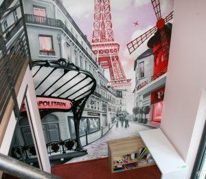 Chambres de filles d coration graffiti hard deco - Deco chambre paris fille ...