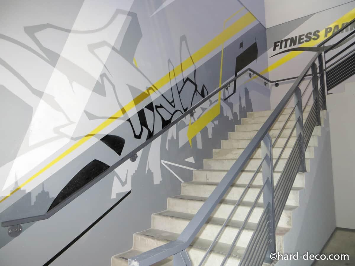 sports d coration graffiti hard deco. Black Bedroom Furniture Sets. Home Design Ideas
