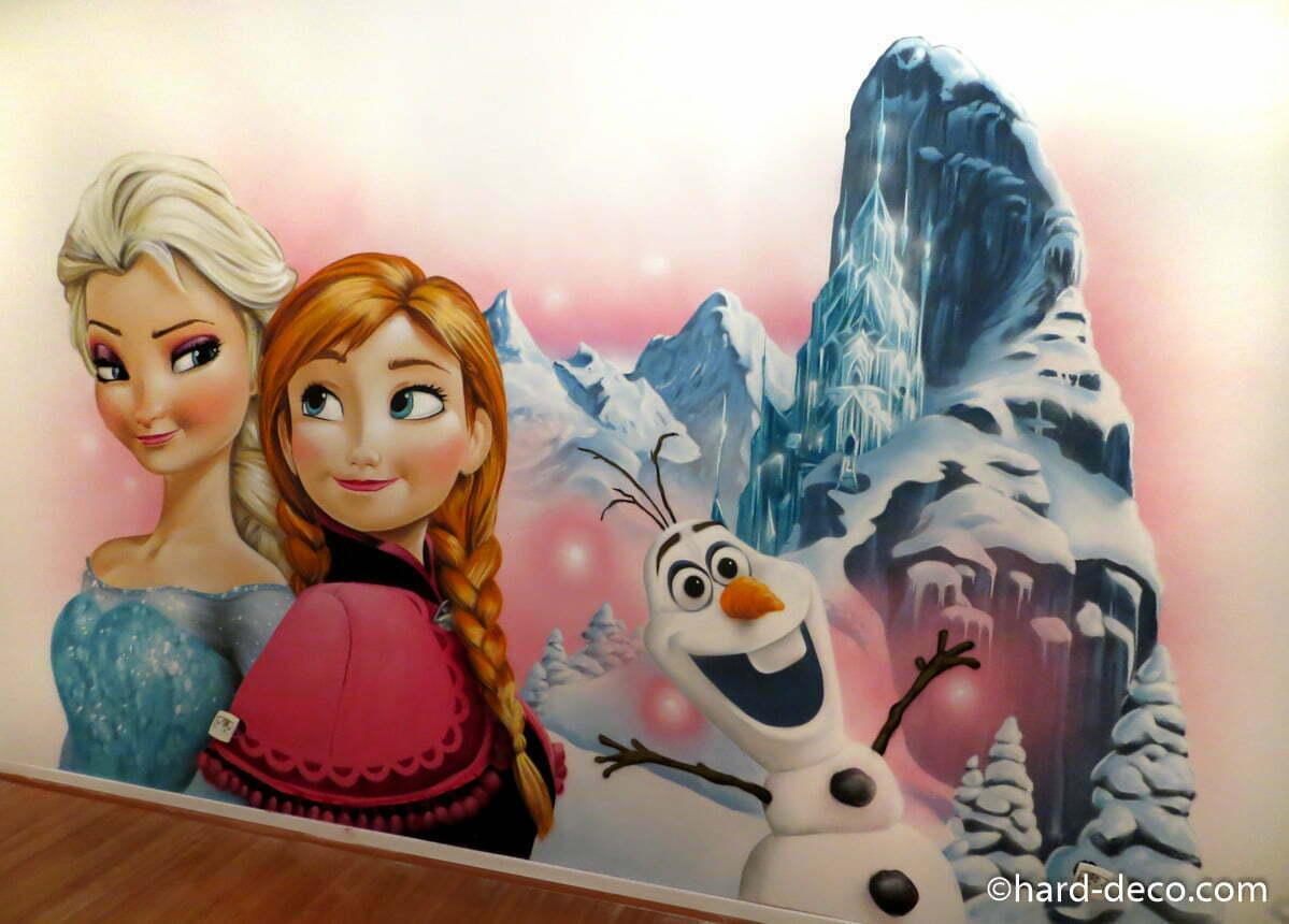 Chambre Fille Reine Des Neige : Décoration chambre enfant reines des neiges elsa anna et olaf