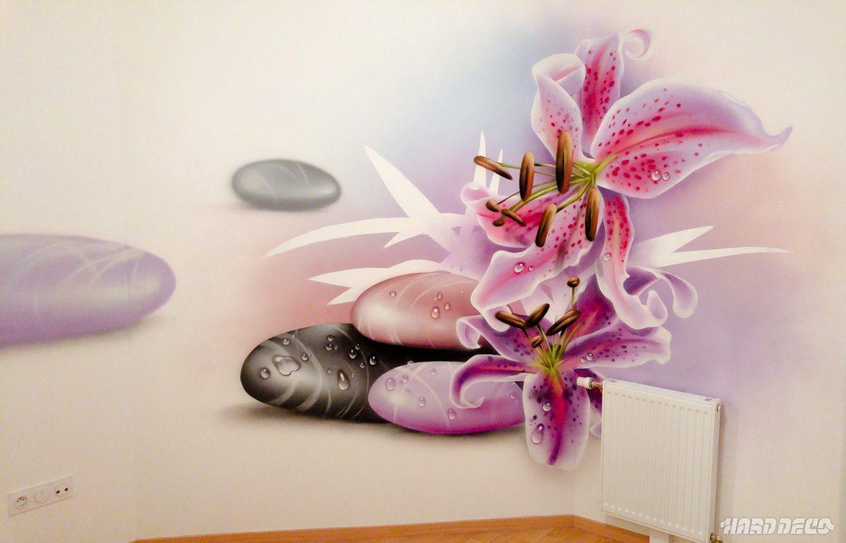 Fleurs sur galets hard deco for Image galet zen