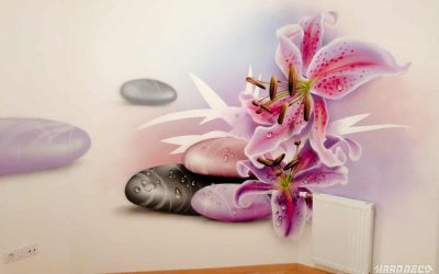 Fleurs sur galets
