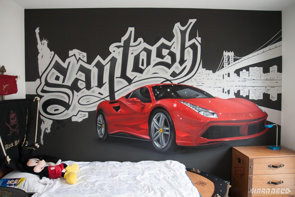 d co graffiti pour chambres d 39 enfants hard deco. Black Bedroom Furniture Sets. Home Design Ideas