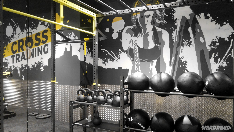 fresque crosstraining au fitness park grand littoral hard deco. Black Bedroom Furniture Sets. Home Design Ideas