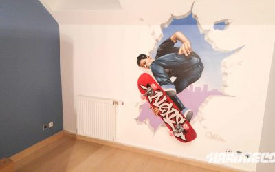 Décoration Skate et prénom Graffiti