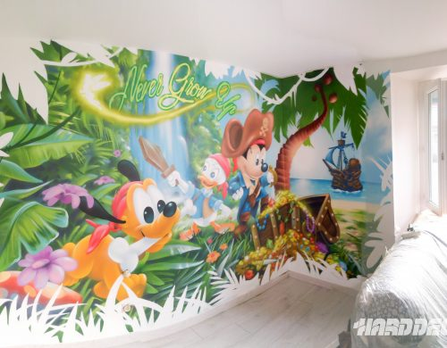 Fresque Mickey pirate et ses amis