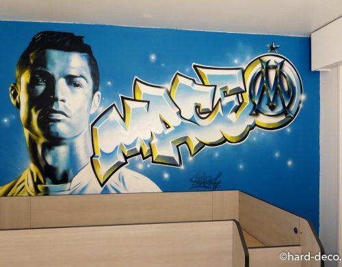 Cristiano Ronaldo et prénom Graffiti