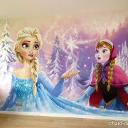 Fresque murale la reine des neiges et Anna