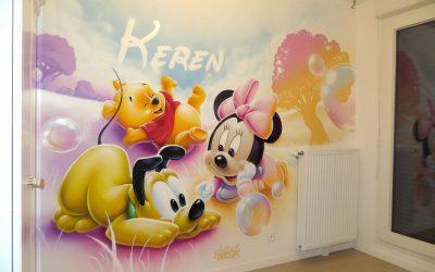 Prénom graffiti et bébés Disney