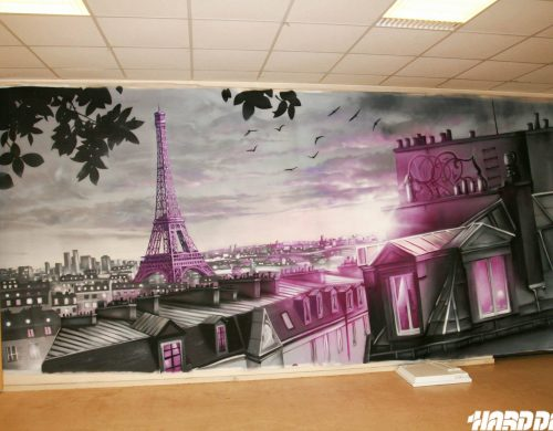 Toile Paris en rose !