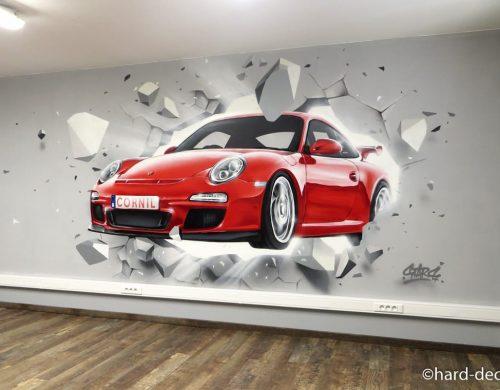 Porsche effet mur cassé