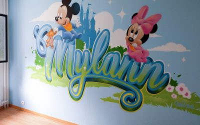 Graffiti Mylann Mickey Minnie