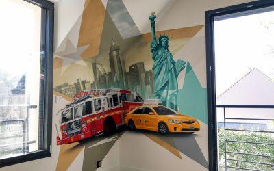 Taxi et pompiers New Yorkais