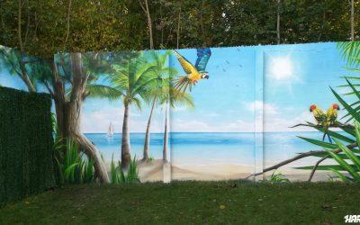 Mur de plage