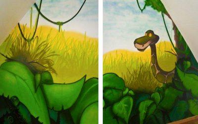 Chambre jungle et savane